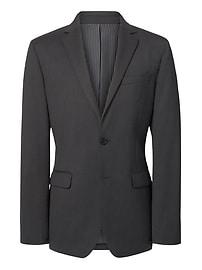 Slim Solid Wool Suit Jacket