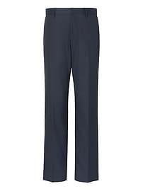 Pantalon uni en coton extensible sans repassage, coupe standard