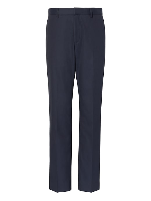 Slim Non Iron Stretch Cotton Solid Pant by Banana Repbulic