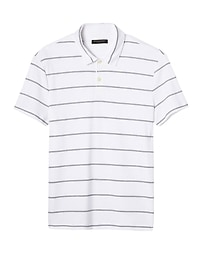 Slim Luxury-Touch Stripe Polo