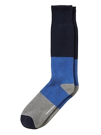 Tri-Color Terry Sock