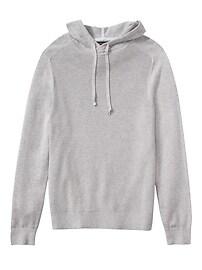 SUPIMA® Cotton Waffle-Knit Sweater Hoodie