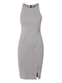 Twill Racer-Neck Sheath Dress