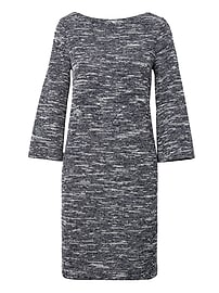 Bouclé Boat Neck Shift Dress