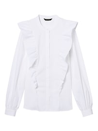 Riley-Fit Ruffle-Front Shirt