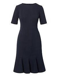 Button-Back Trumpet Dress