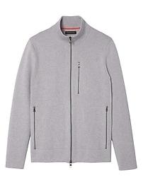 Full-Zip Milano Stitch Sweater Jacket