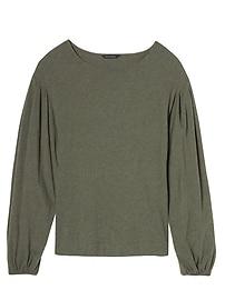SUPIMA® Cotton Bubble-Sleeve Top