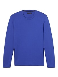 Double-Knit Long-Sleeve Crew