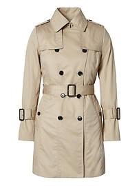 Water-Resistant All-Season Trench with Removable Liner