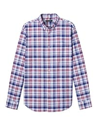 Grant Slim-Fit Cotton-Stretch Plaid Oxford Shirt