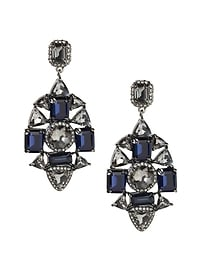 Jeweled Midnight Statement Earring