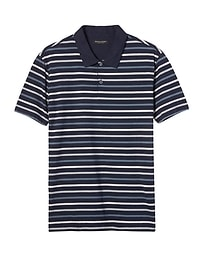 Slim Luxury-Touch Slub Stripe Polo