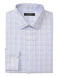 Camden Standard-Fit Non-Iron Stretch Grid Shirt