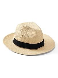 Chapeau repliable en raphia