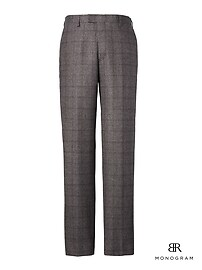 Standard Monogram Charcoal Plaid Italian Wool Suit Trouser