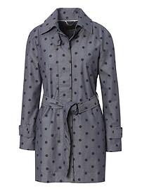 Chambray Dot Trench Coat