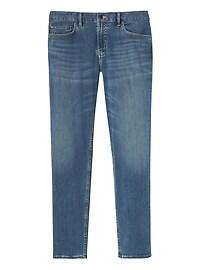 Tapered Rapid Movement Denim Light Wash Jean