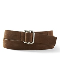 D-Ring Suede Belt