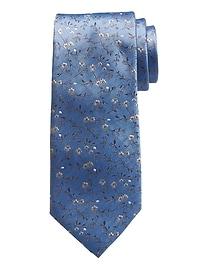 Cravate en Nanotex® à motifs de petites fleurs