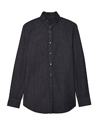 Dillon-Fit Ruffle-Neck Shirt