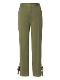 Pantalon Avery à ourlet lacé, longueur à la cheville