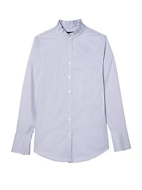 Riley Tailored-Fit Stripe Ruffle-Collar Shirt