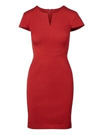 Bi-Stretch Angled Seam Dress