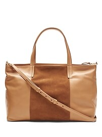 Portfolio Slouchy Convertible Tote with Suede Panel