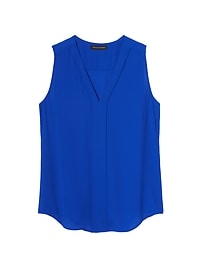 Piped V-Neck Top