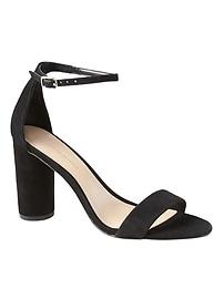 Sandales hautes à talon mono bloc