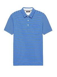 Don't-Sweat-It Stripe Polo