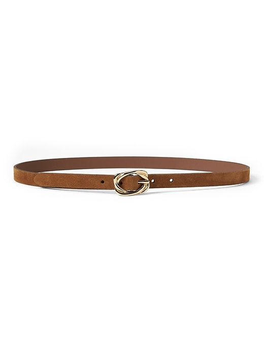 Suede Knot Buckle Skinny Trouser Belt by Banana Repbulic