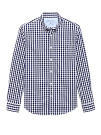 Grant Slim-Fit Luxe Poplin Gingham Shirt
