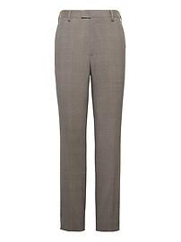 Slim Windowpane Performance Stretch Wool Dress Pant