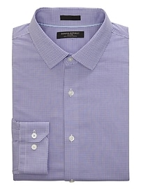 Grant Slim-Fit Non-Iron Stretch Check Shirt