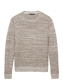T-shirt ras du cou en coton moiré