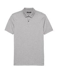 Luxury-Touch Texture Stripe Polo