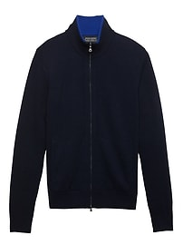 Todd & Duncan Cashmere Full-Zip Sweater Jacket