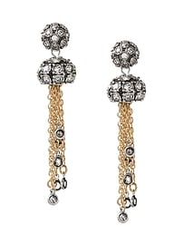 Fireball Gems Tassel Clip-On Earring