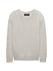 Todd & Duncan Cashmere Drop Shoulder Crew