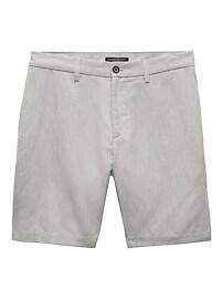 Short Aiden étroit en coton et lin (23cm)