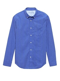 Grant Slim-Fit Luxe Poplin Check Shirt