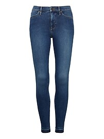 Devon Legging-Fit Luxe Sculpt Medium Wash Jean with Fray Hem