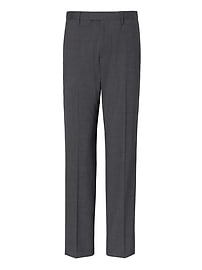 Slim Solid Performance Stretch Wool Dress Pant