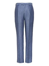Slim Blue Linen Suit Trouser