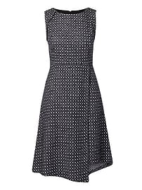 Wrap-Front Tweed Dress