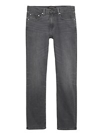 Tapered Rapid Movement Denim Gray Wash Jean