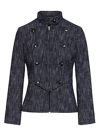 Bouclé Military Jacket