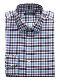 Chemise à damiers extensible sans repassage, coupe Camden standard